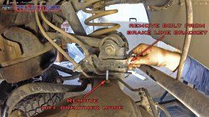 Landcruiser breather brakelines