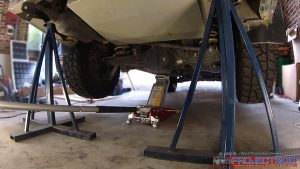 Raise rear axle