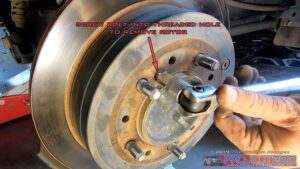 Remove rear rotor landcruiser 200
