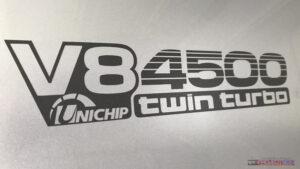 V8 4500 twin turbo sticker