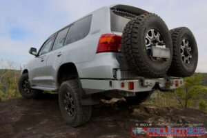 Landcruiser 200 rear bar wheel carriers outback accessories
