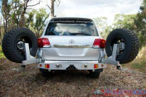 Landcruiser 200 rear bar wheel carriers raslarr alternative