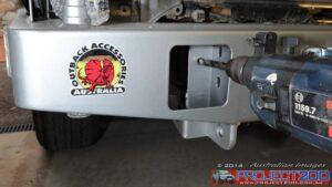 Drilling rear bar