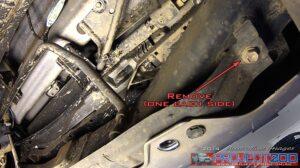 Rear bar pressed metal bracket