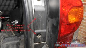 Remove tail lights landcruiser 200