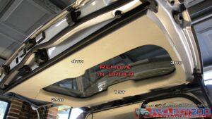 Landcruiser 200 tailgate trim removal