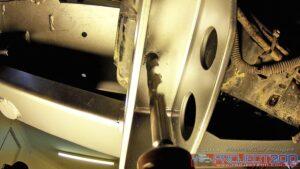 Underside mounting holes