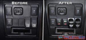 Landcruiser 200 dash switches