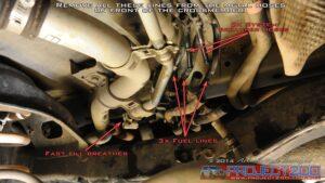 Long ranger fuel tank furl lines