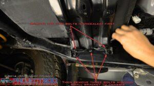 landcruiser 200 remove spare tyre bracket