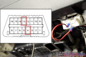 OBD2 transmission temperature connection