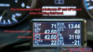Ultragauge transmission temperature