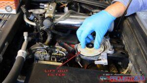 Landcruiser 200 fuel filter remove filter element