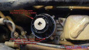 Install oil filter cap