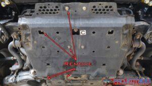 Remove bash plate