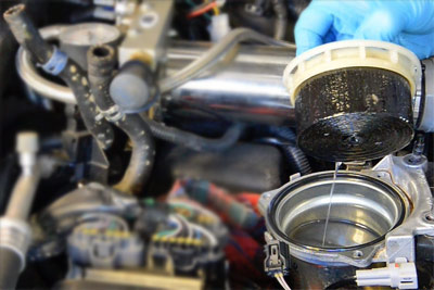 Fuel filter change and dash light reset